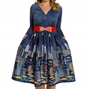 Lindy Bop Winter Dress New York City New with tags